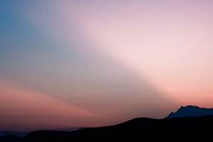 First Light over Sierra de La Laguna by Alvaro Colindres