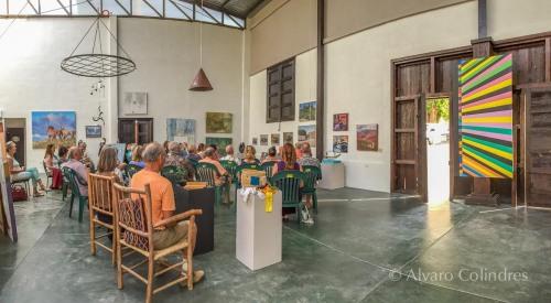 Dharma Talk at Galeria Todos Santos by Alvaro Colilndres